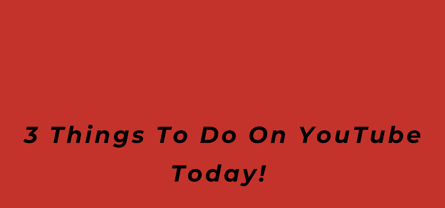 3 Things To Do On YouTube Today!, coronavirus, Covid-19, music business 101, BlackbirdPunk Consulting, Digital Consulting for the Music Industry, music industry digital entertainment agency, Berlin, berlin, digital, work digital, freelancer digital music industry